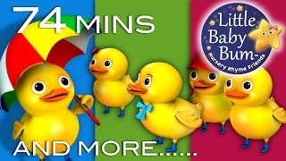 Five Little Ducks | Plus Lots More Nursery Rhymes | 74 Minutes Compilation from LittleBabyBum!