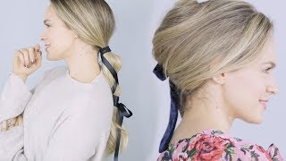 Ribbon Hairstyles for Winter into Spring! - KayleyMelissa