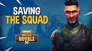 Saving The Squad!! - Fortnite Battle Royale Gameplay - Ninja