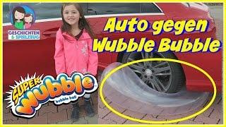 Super Wubble Bubble mit Auto überfahren 🚗 Geht das?   Härtetest für den Wubble Bubble - Challenge