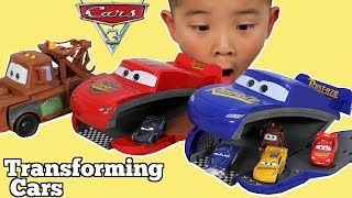 TRANSFORMING Disney Cars 3 Fabulous Lightning McQueen & Mater Toy Box Surprise With CKN Toys