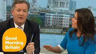 Susanna Reid Argues With Piers Morgan For Interrupting Her | Good Morning Britain