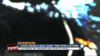 Lightning strikes boat off Jupiter during group fishing trip