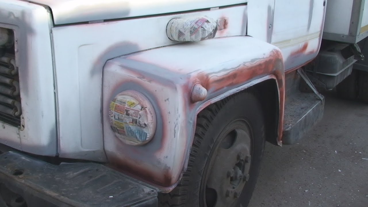 Покраска кабины газ-3307