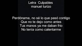 Culpables letra - Manuel turizo