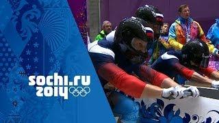 Bobsleigh - Four-Man Heats 1 & 2   Sochi 2014 Winter Olympics