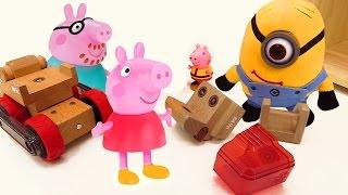 Wir kaufen mit #Peppa einen Bagger – #PeppaWutz auf #KinderLernTV – Video mit #Spielsachen