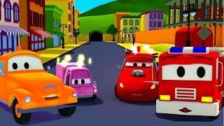 Der Streifenwagen mit dem Polizeiauto : mit Tom dem Abschleppwagen und dem Unfall in Autopolis