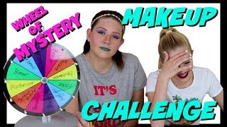 MYSTERY WHEEL OF MAKEUP CHALLENGE || Taylor and Vanessa