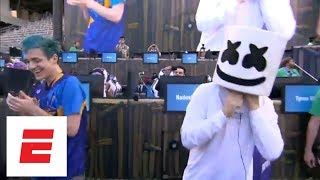 Best of the Fortnite Celebrity Pro-Am Competition including Ninja, Marshmello and more | ESPN