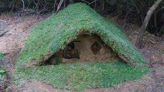Build wooden house underground