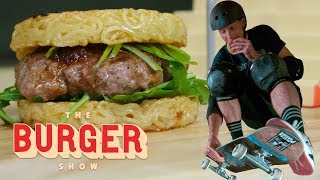 Tony Hawk Skates and Eats Iconic Burgers   The Burger Show