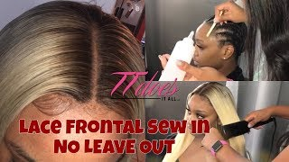 Blonde Lace Frontal Sew in by @TTDoesitall (Not a tutorial)