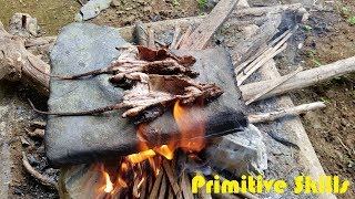 Primitive skills: Cook food from stone