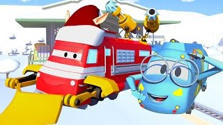Troy der Zug und der Schneemaschinen-Zug in Autopolis   Auto & Lastwagen SPECIAL Weihnachten