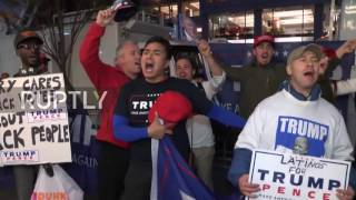 USA: Trump supporters rally outside Trump Tower on election night