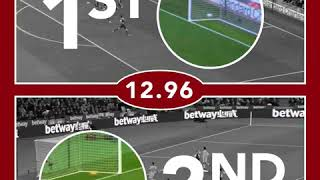 Mohamed Salah is very fast! Goals against Arsenal FC and West Ham United!