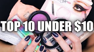 TOP 10 UNDER $10 | Drugstore Makeup