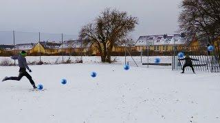 SCHNEE FUßBALL CHALLENGE + Bestrafung | ViscaBarca