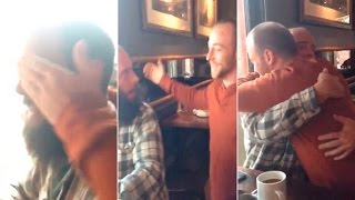 Brother surprises his twin after over a DECADE apart