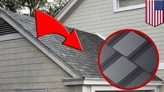 Tesla solar roof: New Tesla-SolarCity panels look just like ordinary roof tiles - TomoNews