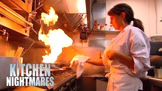 Clueless Owner Has NO IDEA How To Work In A Kitchen   Kitchen Nightmares