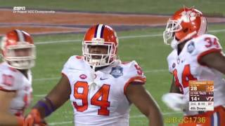 Carlos Watkins vs Virginia Tech 2016