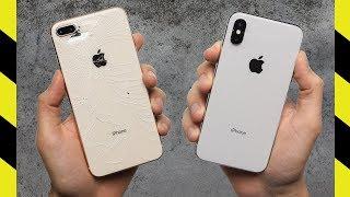 iPhone X vs. iPhone 8 Plus Drop Test!