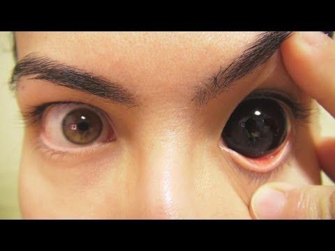 Как на сделать глаза черными