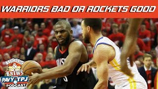 Are the Warriors Losing more than the Rockets are winning ? | Hoops N Brews