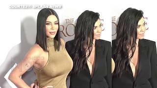 Kim Kardashian BRALESS, Kourtney Kardashian Wardrobe Malfunction At The Promise Premiere