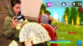 I Gave My Little Brother $1000+ For Every Kill In Fortnite: Battle Royale!