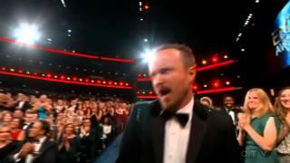 "Aaron Paul wins an Emmy for ""Breaking Bad"" 2014"