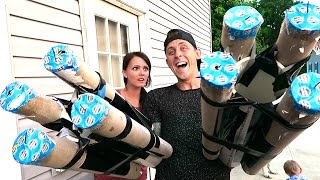 HOMEMADE FIREBALL CANNONS!! 1500+ Fireballs