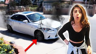 I can't believe she drove her car like this...