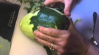 Papaya, how to peel and prep a green papaya for cooking