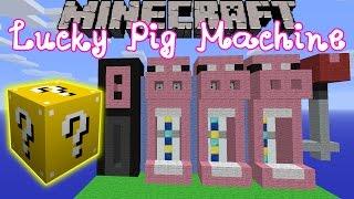 Minecraft: Lucky Block Mod Pig Slot Machine Mini-Game - Modded Mini-Game