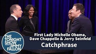Catchphrase with First Lady Michelle Obama, Dave Chappelle and Jerry Seinfeld