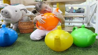 Indoor Playground For Kids | Old MacDonald Had A Farm & More Nursery Rhymes! Colours & Farm Animals