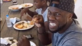 Kim Kardashian Cooks Fried Chicken For Kevin Hart On Soul Food Sunday
