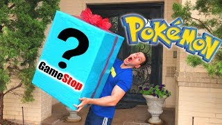 OPENING BIGGEST MYSTERY BOX WITH BEST POKEMON CARDS AND TOYS FROM GAMESTOP!
