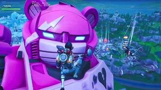 FORTNITE LIVE EVENT MECHA VS MONSTER FIGHT SEASON 9