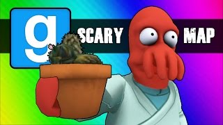 Gmod Scary Map (Not Really) Moments - Follow the Cocktus! (Garry