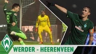 Max Kruse eiskalt, Lamine Sané staubt ab | SV Werder Bremen - SC Heerenveen 2:2