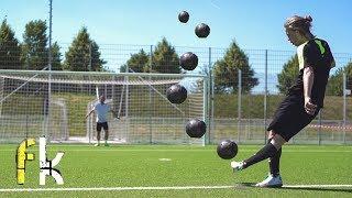 EXTREME KNUCKLE FOOTBALL CHALLENGES vs FREEKICKERZ TEAMMATE ANTIMAX