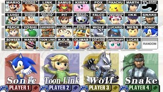 Super Smash Bros Brawl - How to Unlock All Characters