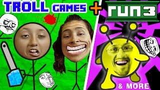 TROLLFACE QUEST + RUN 3 w/ FGTEEV Family! (Weird Riddles & Pranks & Vlog Gameplay)
