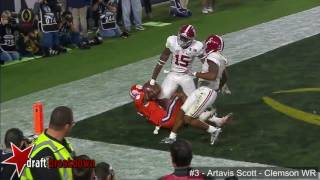 Artavis Scott Clemson WR vs Alabama 2015