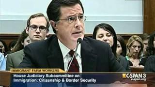 Rep. Judy Chu (D-CA) questions a serious Stephen Colbert, 9/24/10