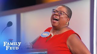 Pamela shows off her SPIN CYCLE | Family Feud